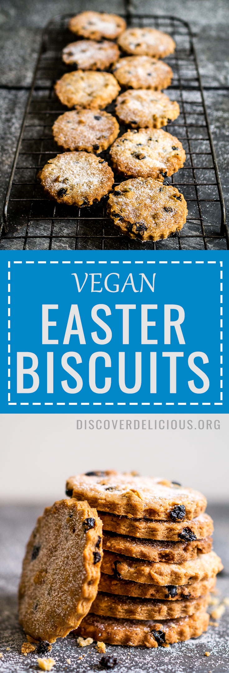 Deliciously crumbly Easter Biscuits! Vegan too! | Discover Delicious | #vegan #baking #recipe #cookies