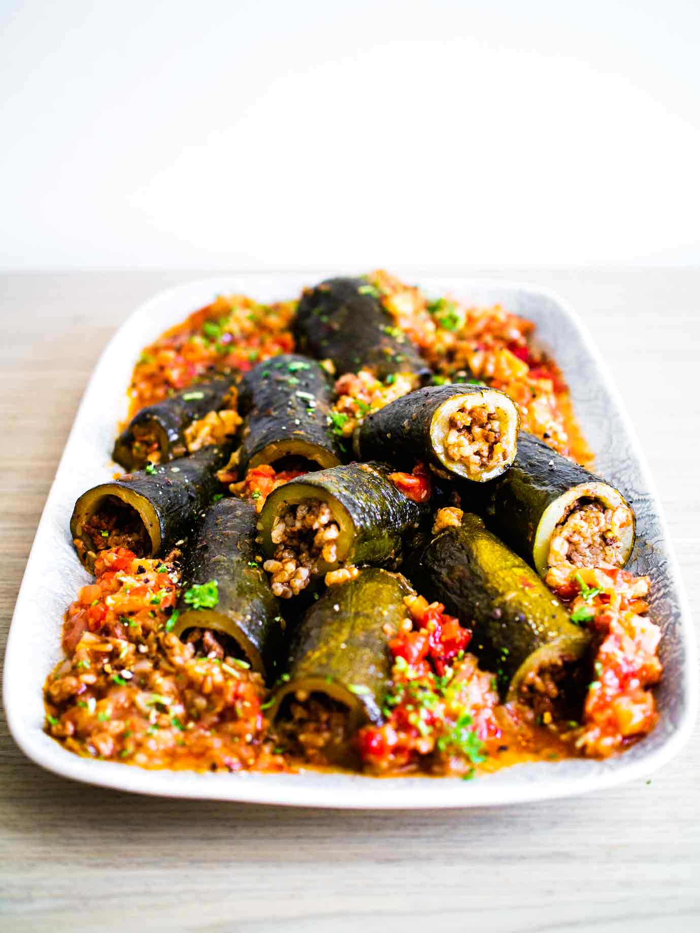 Israeli Stuffed Tomatoes and Courgettes   Vegan Recipe   Discover Delicious   www.discoverdelicious.org