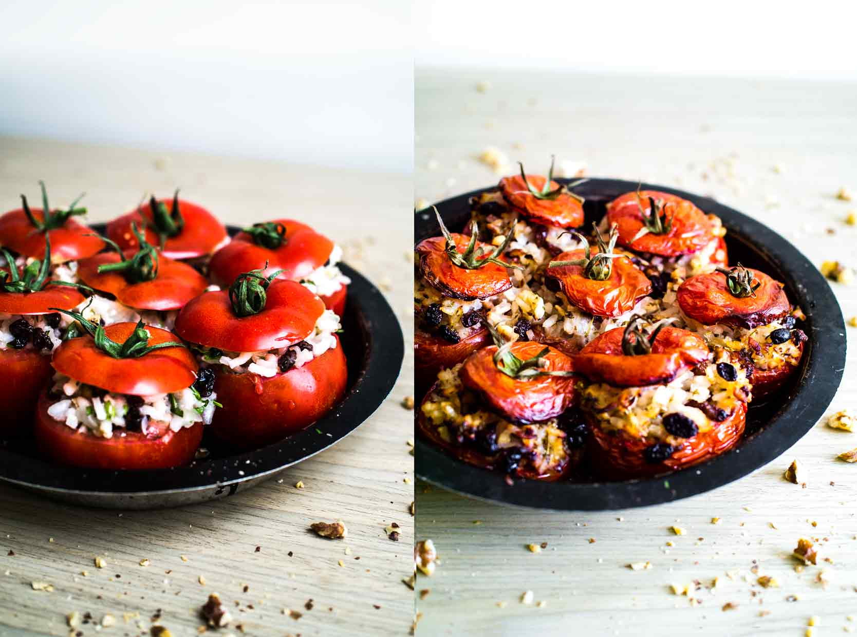 Stuffed Tomatoes from Israeli Stuffed Tomatoes and Courgettes   Vegan Recipe   Discover Delicious   www.discoverdelicious.org
