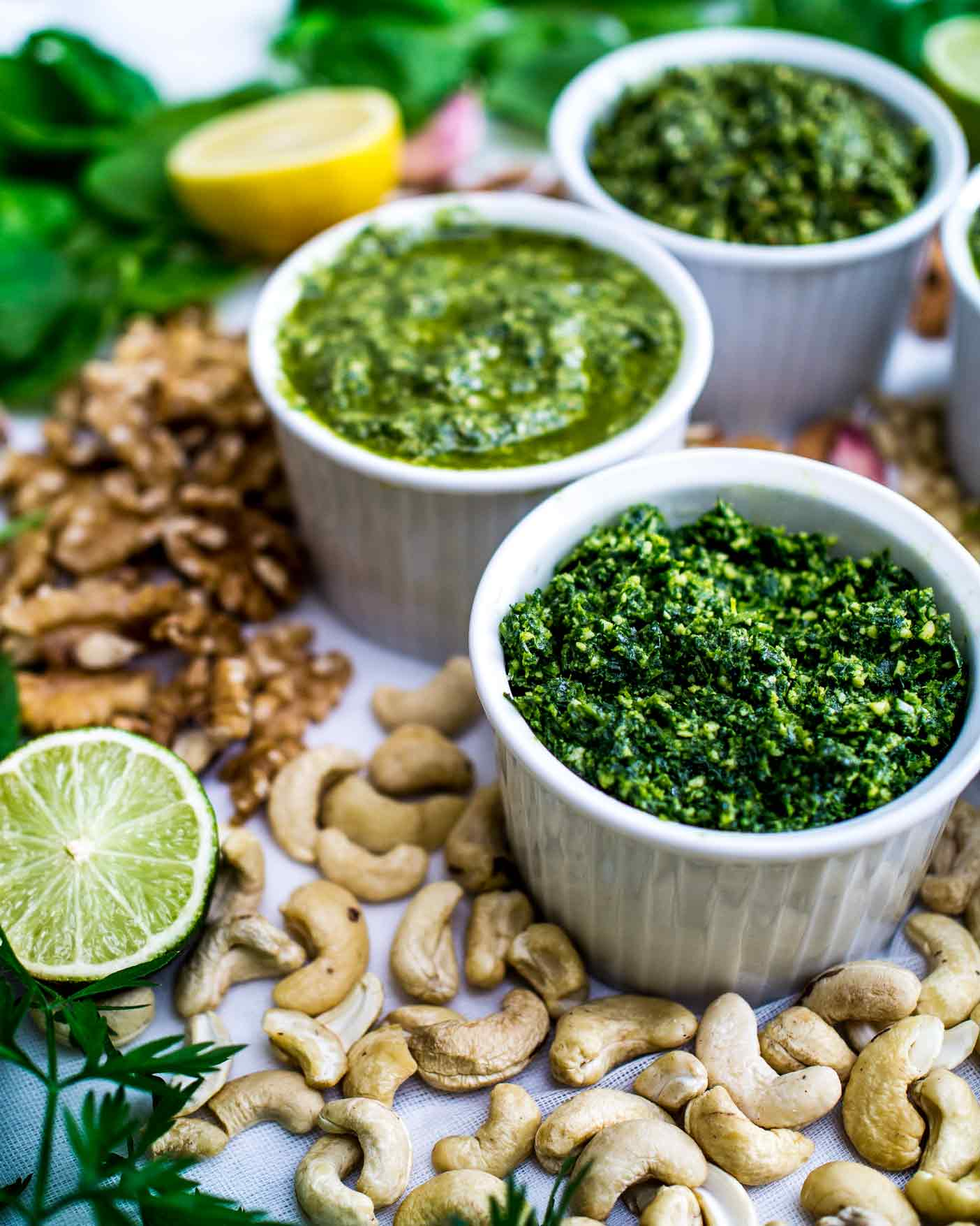 How to make any vegan pesto - adaptable so choose your herb, nut, citrus and oil! Click through for full post!   #infographic #graphic #flowchart #recipe #recipes #dips #homemade #healthy #basil #dairyfree #gluten #free #easy #vegetarian #spinach #mint #cashew #green #walnut #almond #vegan #how #make