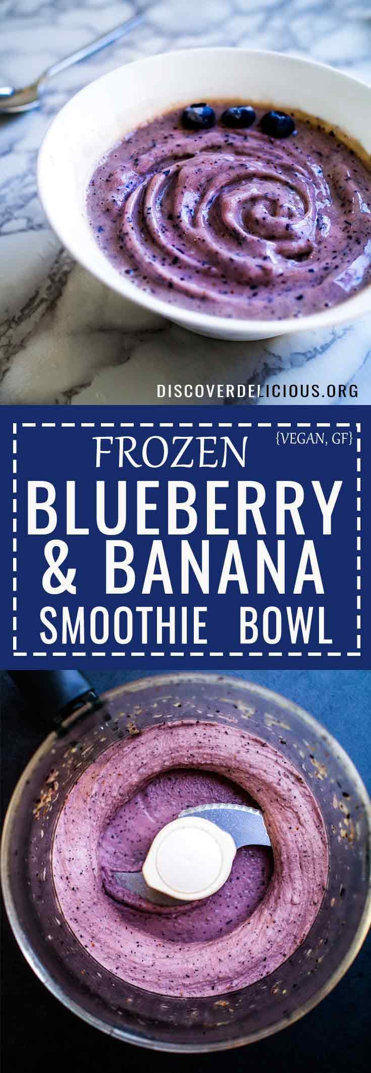 Simple 3-ingredient Blueberry & Banana Smoothie Bowl!    #recipe #vegan #vegan #berry #breakfast #easy #healthy #glutenfree #gluten #dairy #free
