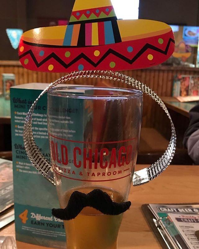 Cinco de Mayo @oldchicago  mini beer tour- @gatewaybrewingpdx pils- yummy!!