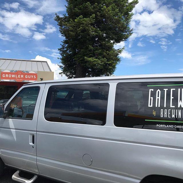 Astoria Growler Guys -  Get @gatewaybrewingpdx Jet Stout and Smoked IPA  #beervanlife #keeponhandtruckin