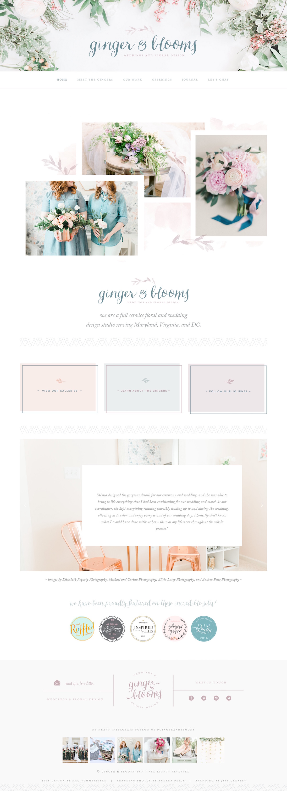 Ginger & Blooms Wedding & Floral Design • A top 10 Squarespace feminine websites for inspiration.jpg