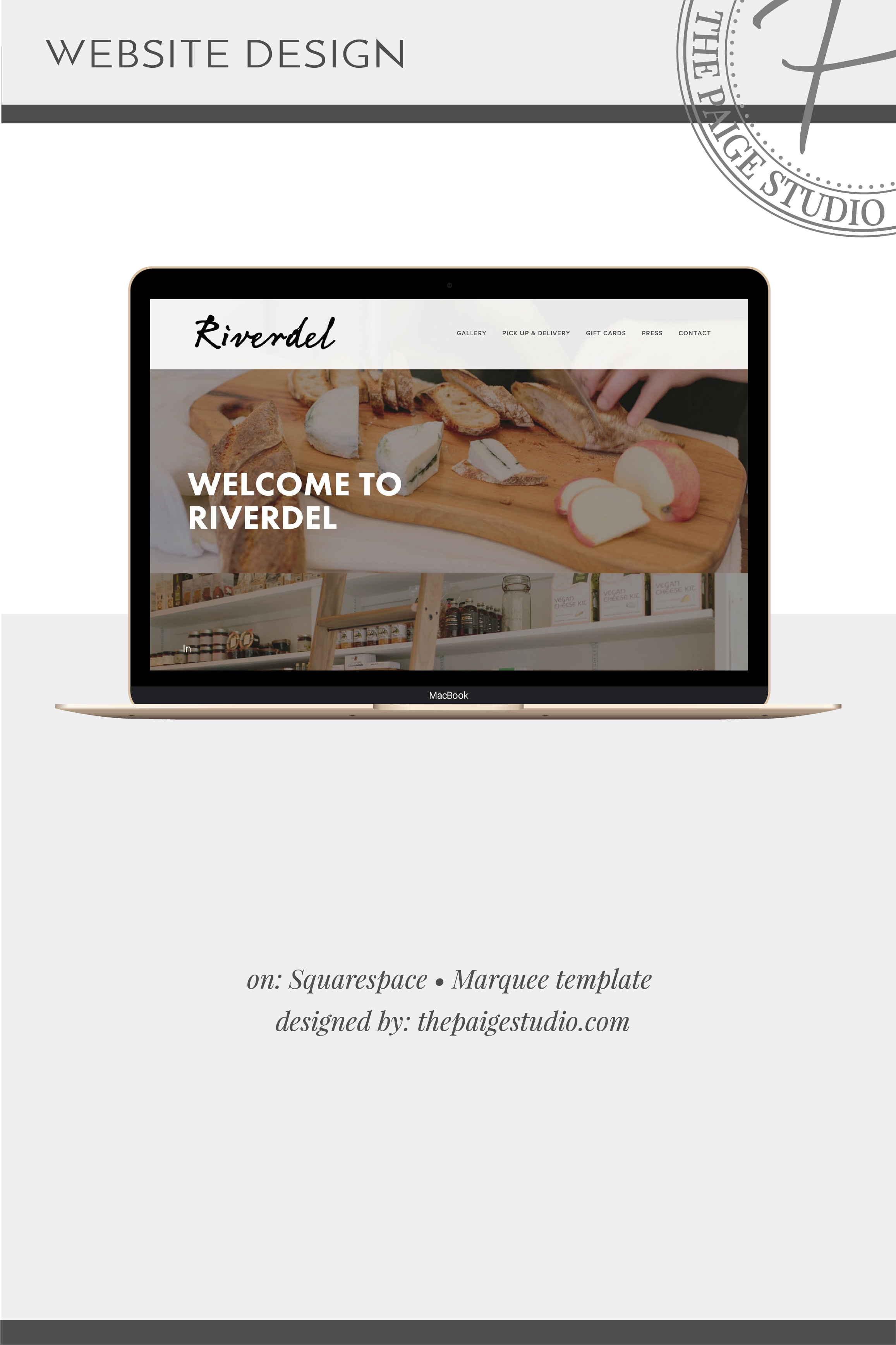 Brooklyn vegan cheese shop website design