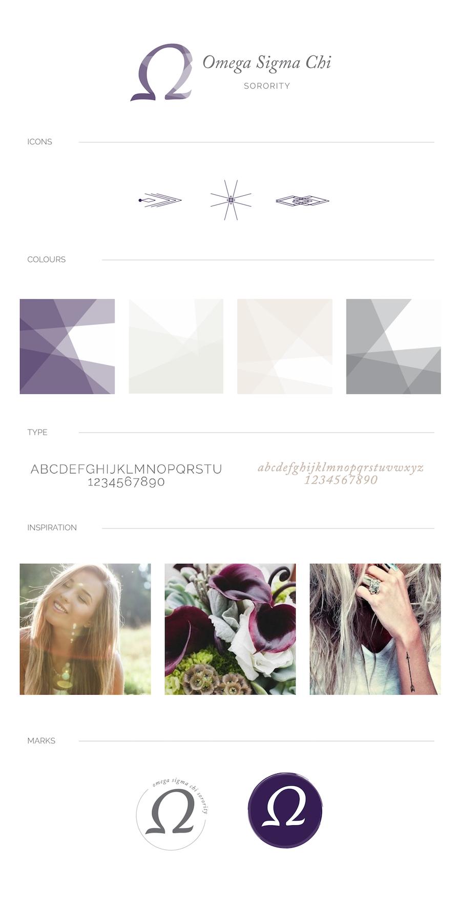 mood board and color palette - whimsical, feminine, purple