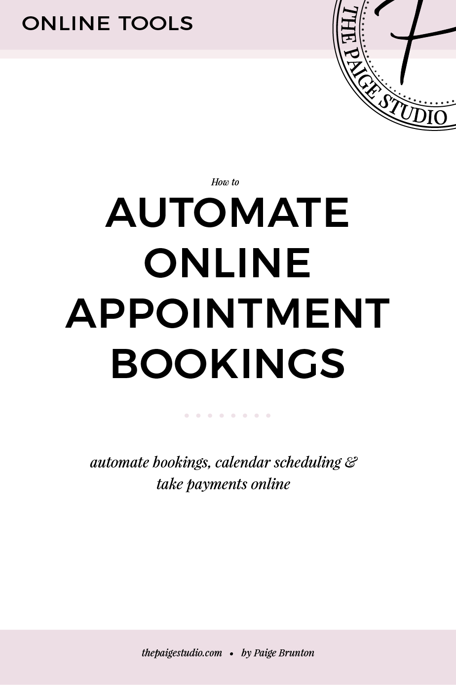 How to automate appointment bookings, add them to your calendar, and take payments online quickly & easily