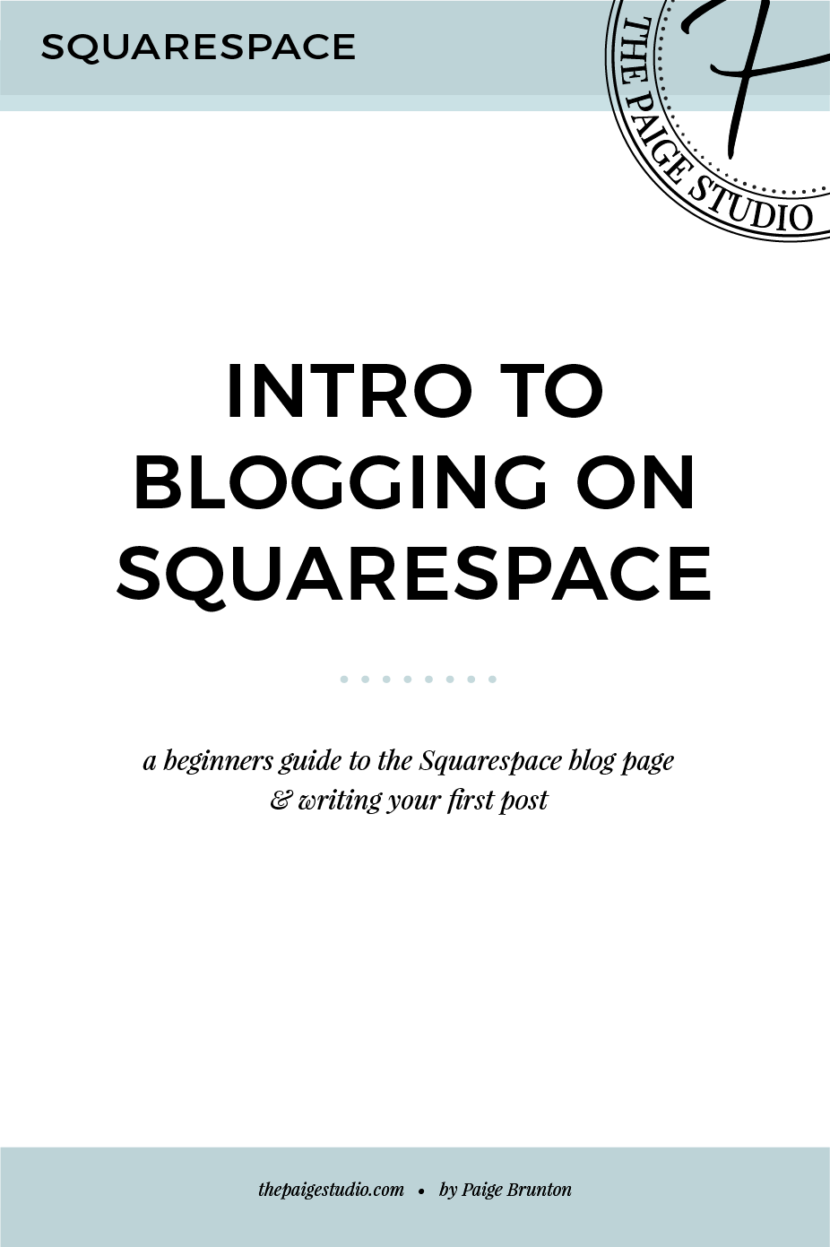 How to start blogging on Squarespace - intro video