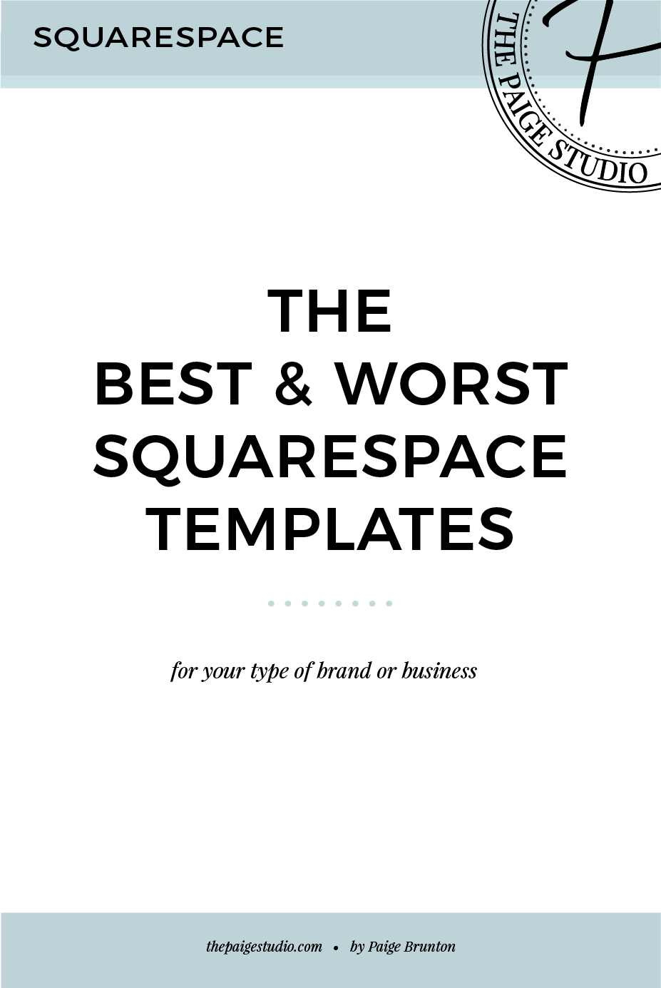 Designer suggested templates to best fit your site needs
