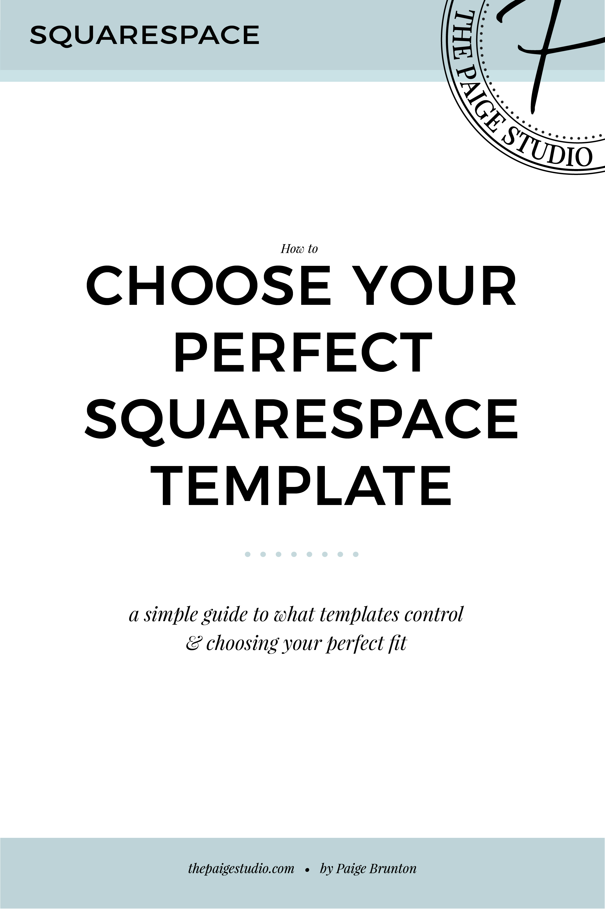 how to choose your perfect Squarespace template - a quick & simple guide
