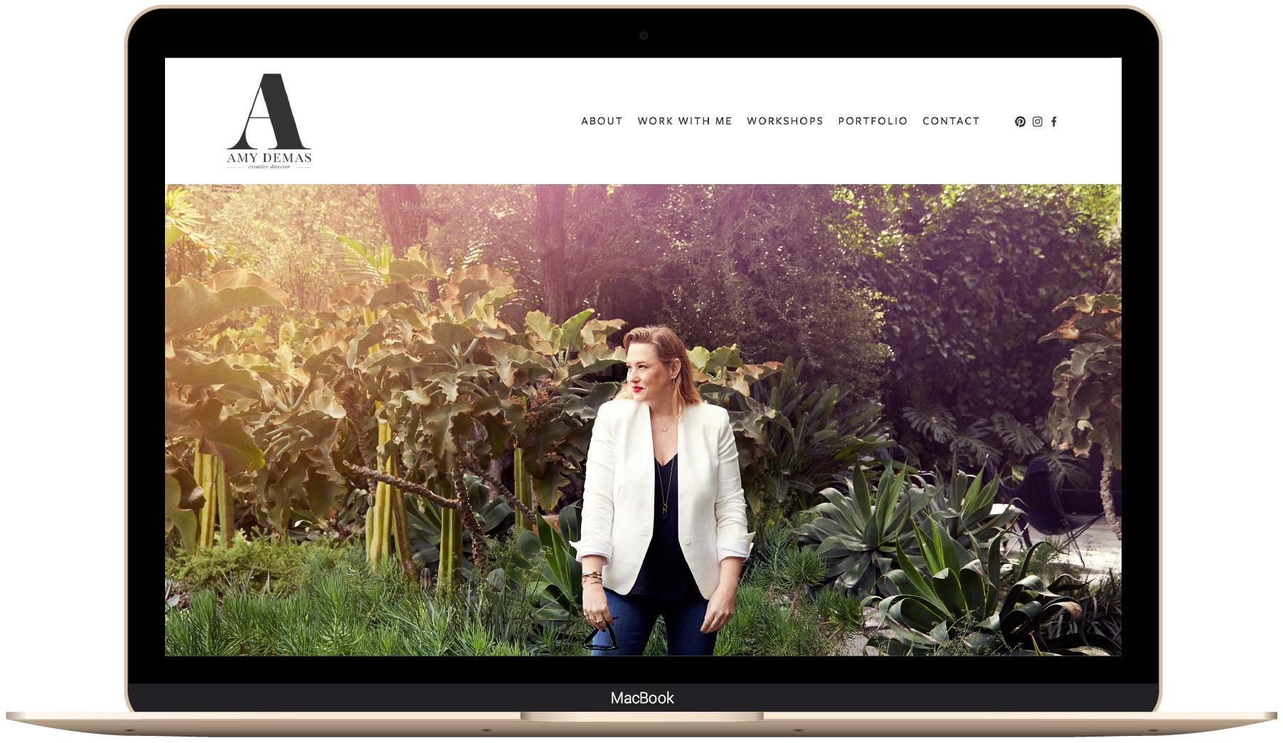 Squarespace website design for Amy Demas by The Paige Studio.jpg