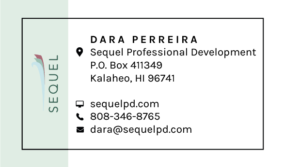 green and white business card tropical, minimalistic.png