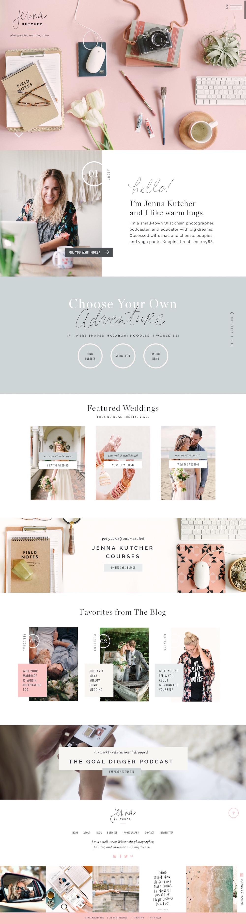 Jenna Kutcher ShowIt website designed by Jen Olmstead.jpg