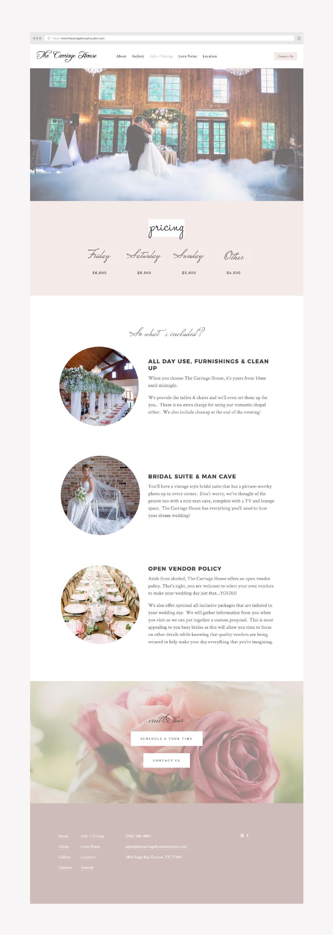 feminine pink website design for a wedding vendor built on squarespace or showit.jpg