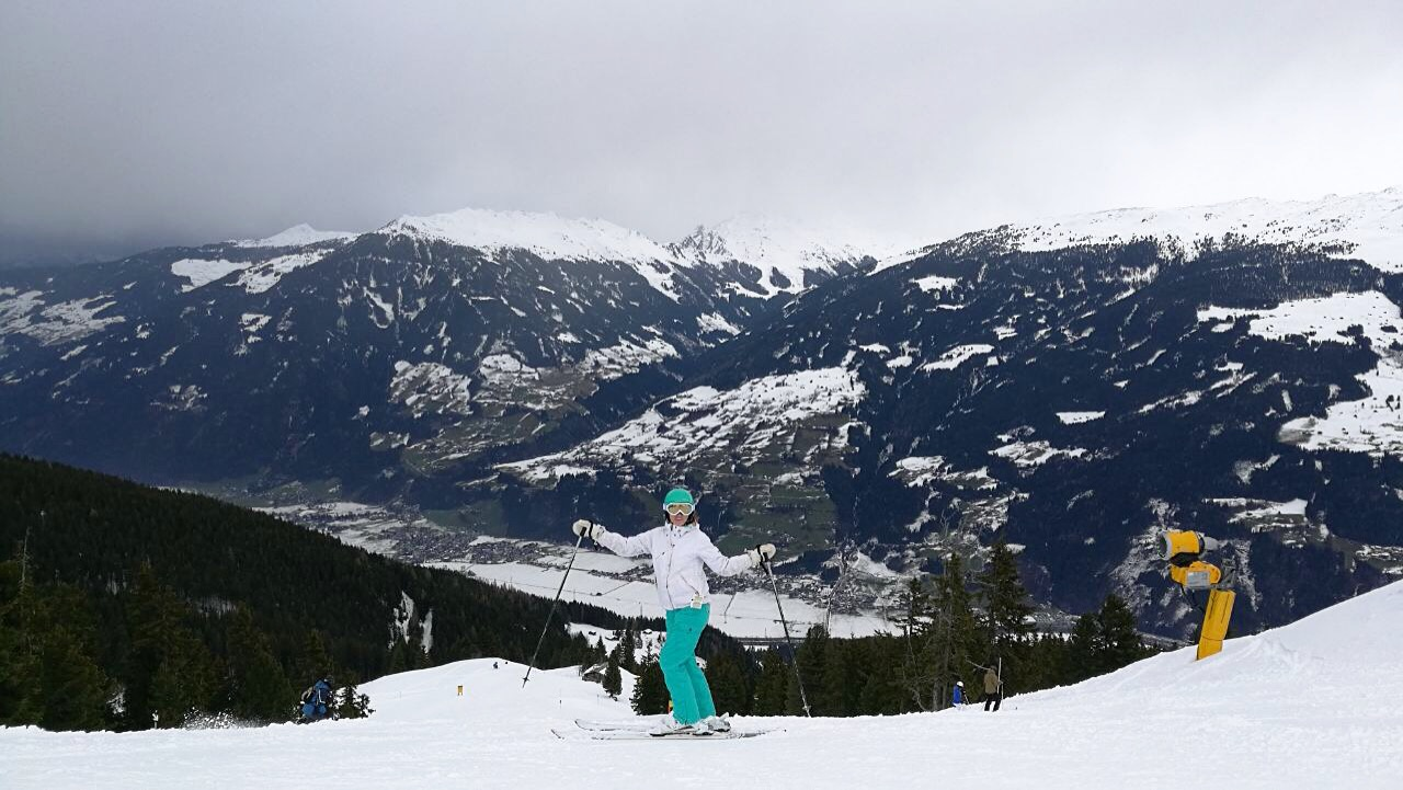Digital nomad Paige skiing in Zillertal Austria.JPG