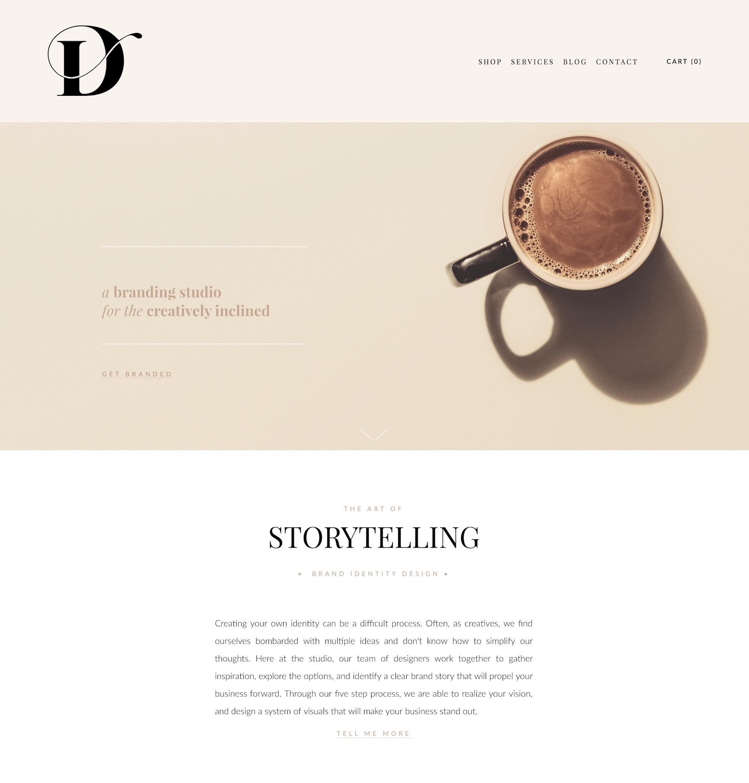drop cap design clean and modern squarespace website.png