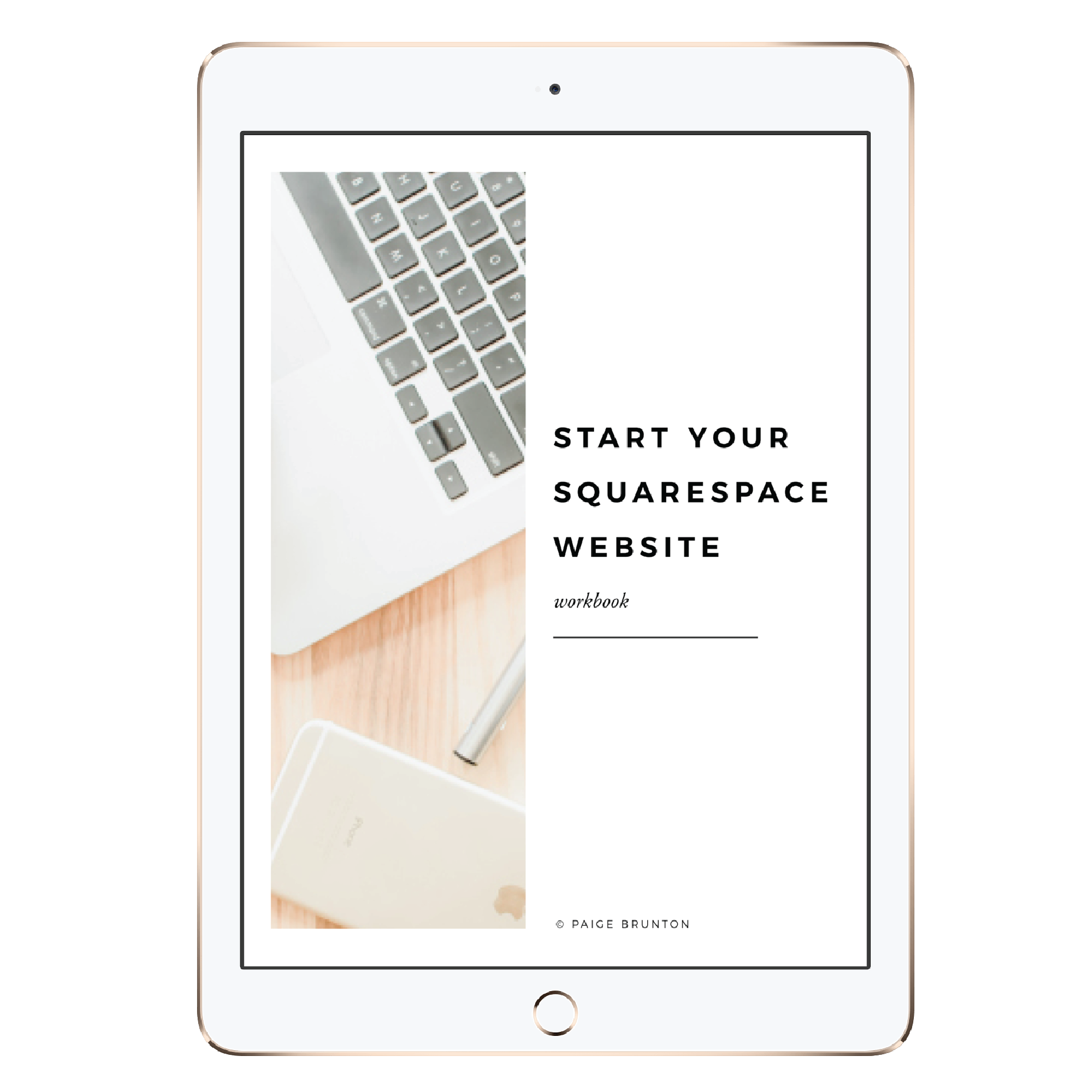 start your squarespace site workbook download