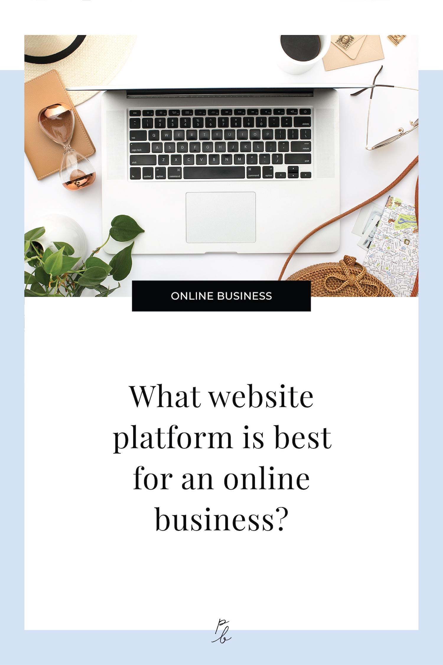 What website platform is the best for an online business.jpeg