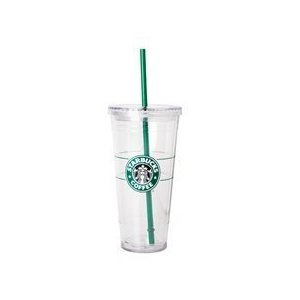 Starbucks cold cup water bottle how I pack my carry on when I travel.jpg