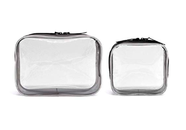 Clear plastic pouch - how I pack my carry on for travel