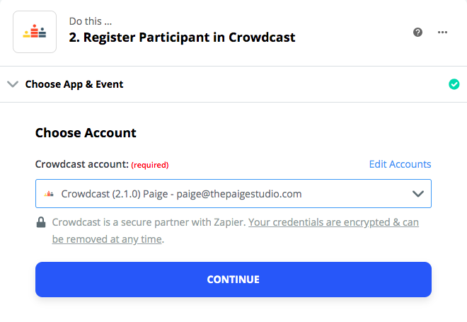 How to register Crowdcast webinar participants through a Squarespace page