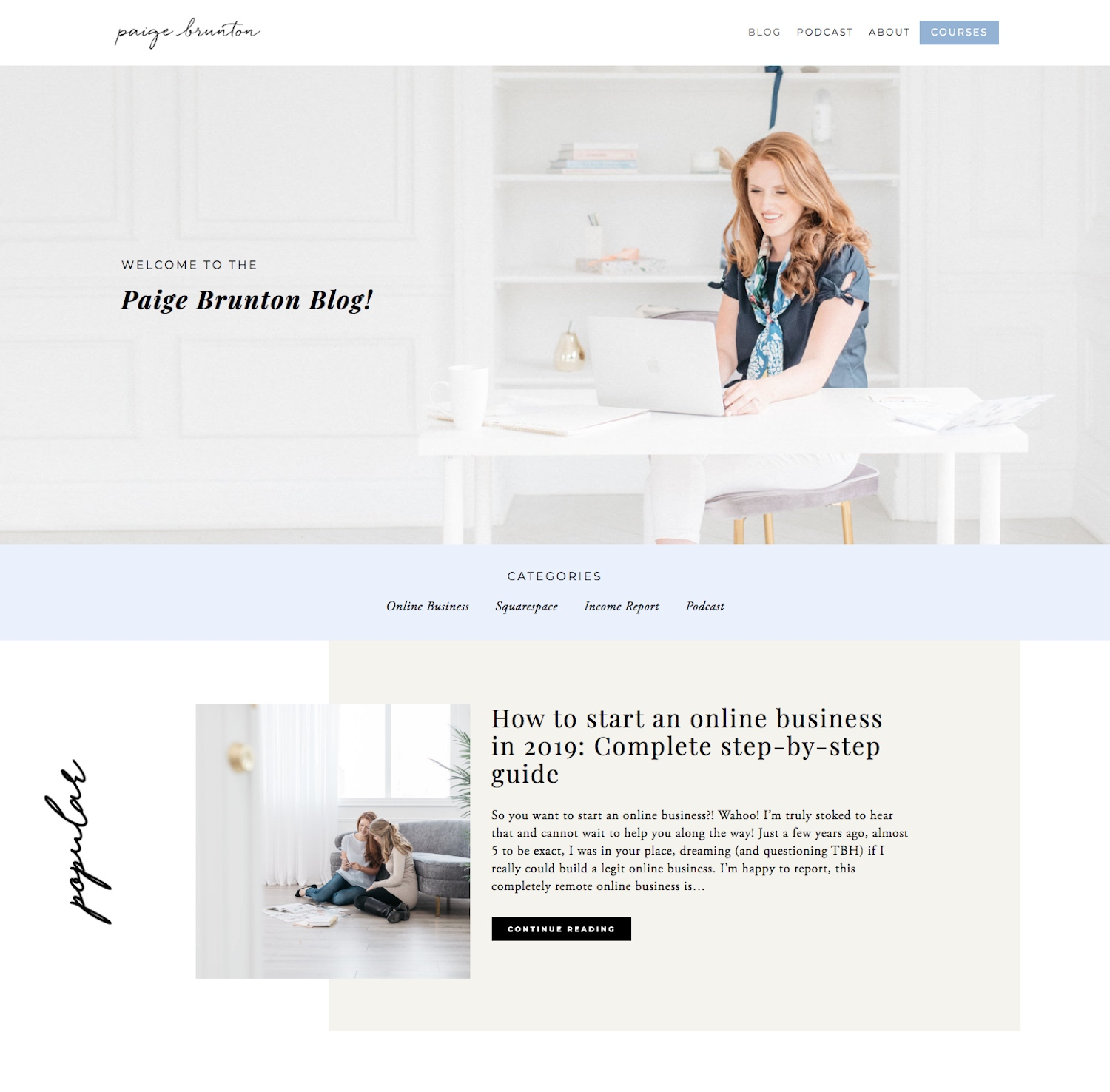 How to completely redesign your Squarespace blog page