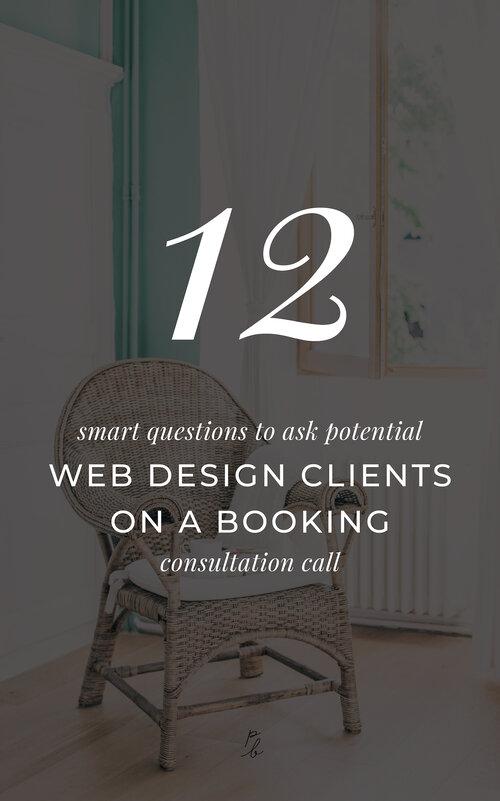 12 Smart Questions To Ask Potential Web Design Clients On A Booking Consultation Call Paige Brunton Squarespace Templates Squarespace Designer Courses