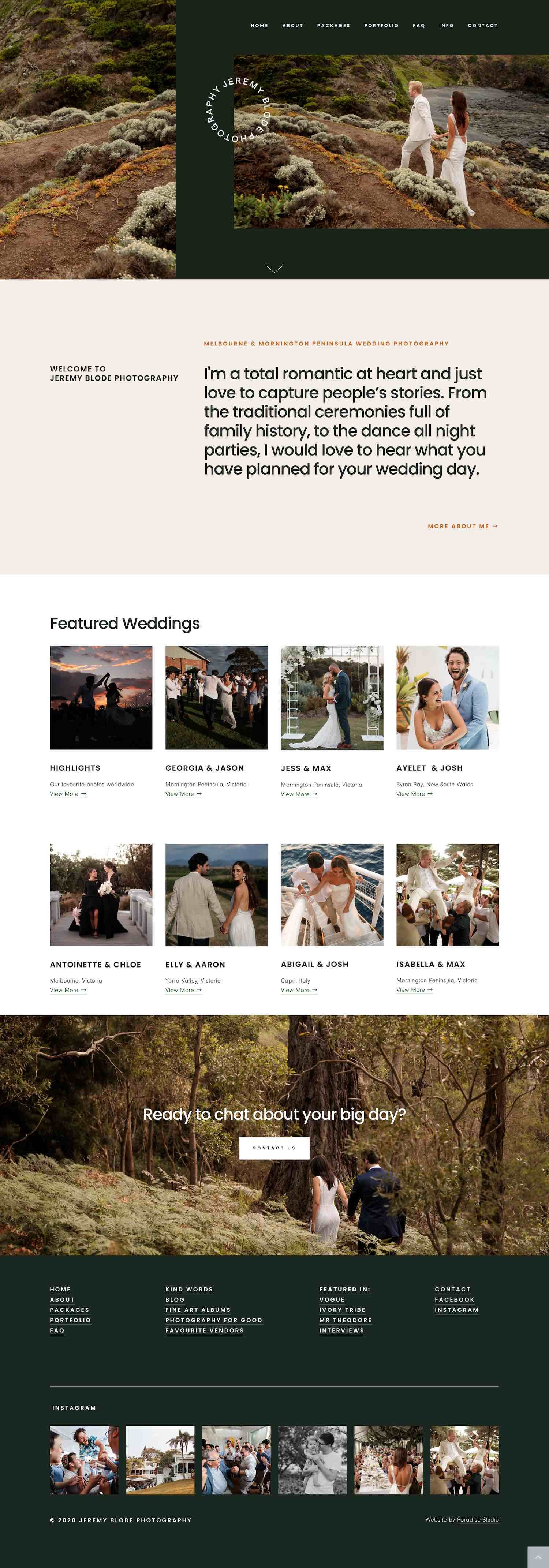 20 Best Example Squarespace Websites Photographer Edition Paige Brunton Squarespace Templates Squarespace Designer Courses