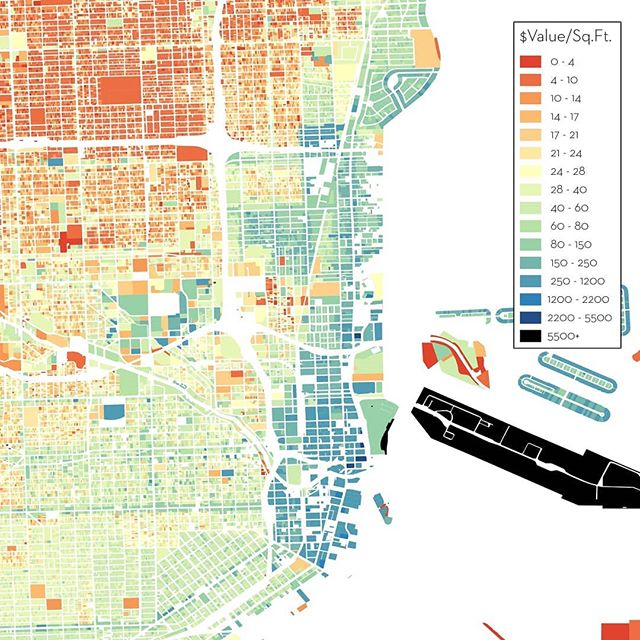Miami folks, check out eye-popping land value analysis by @adamold! Which urban neighborhood is undervalued...?
