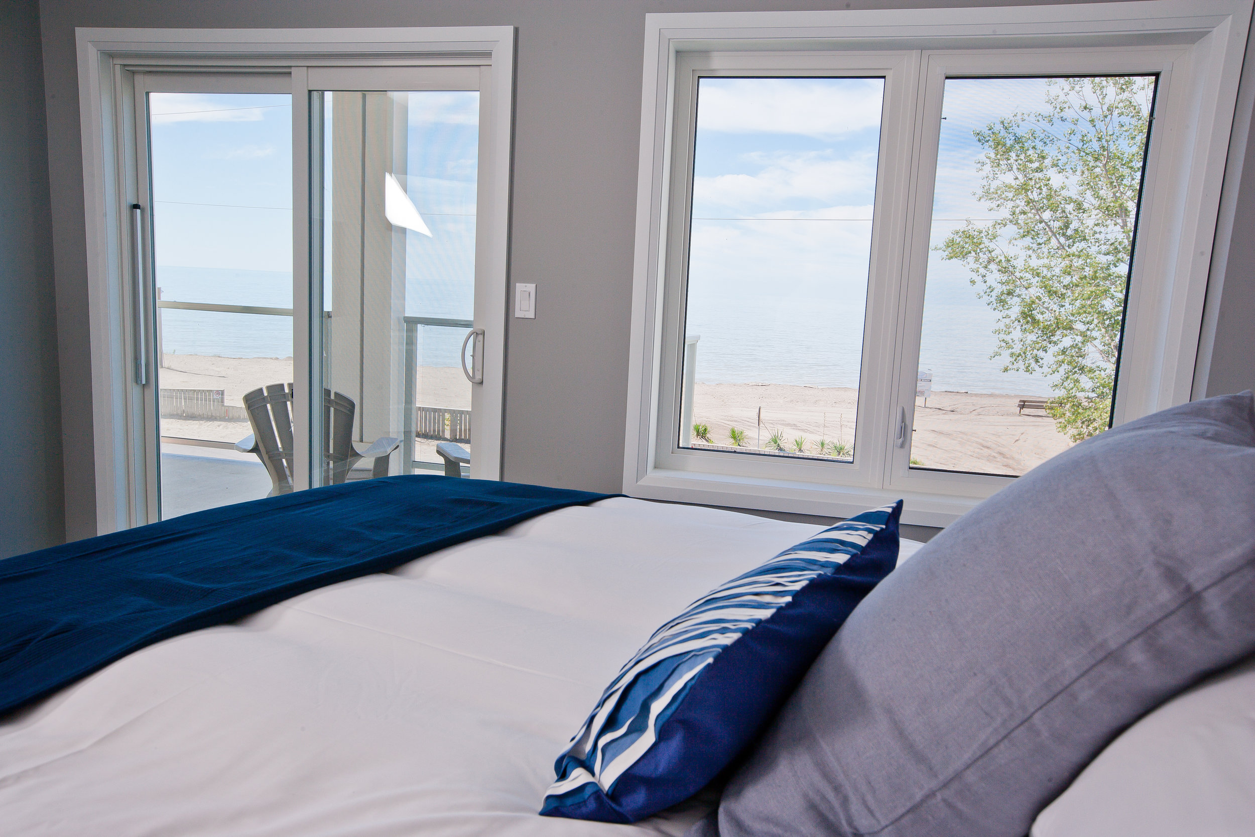 Luxurious masters include ensuites and a door to your private beach-side patio or balcony.