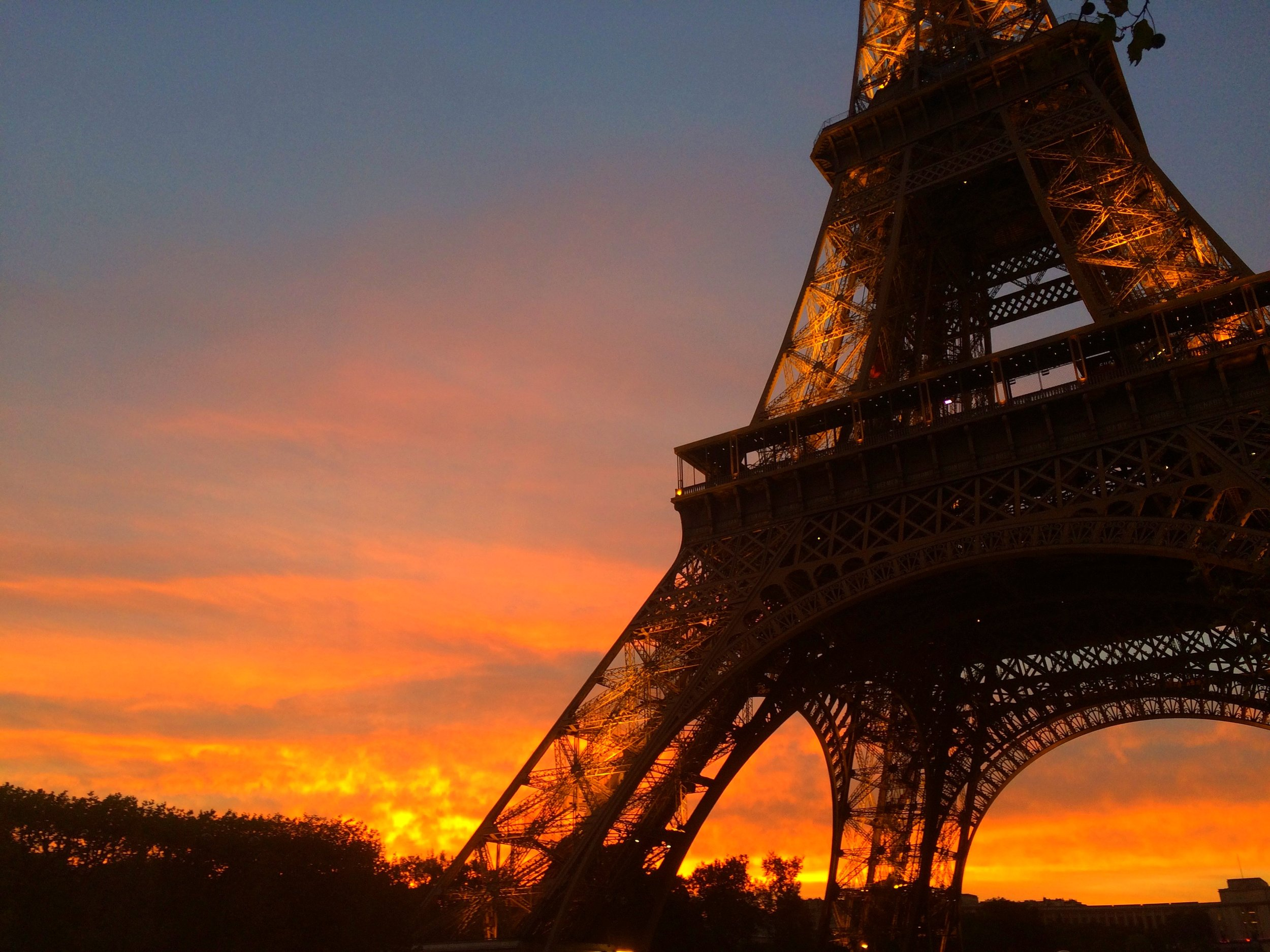 There is nothing more romantic than the Eiffel Tower at sunset.