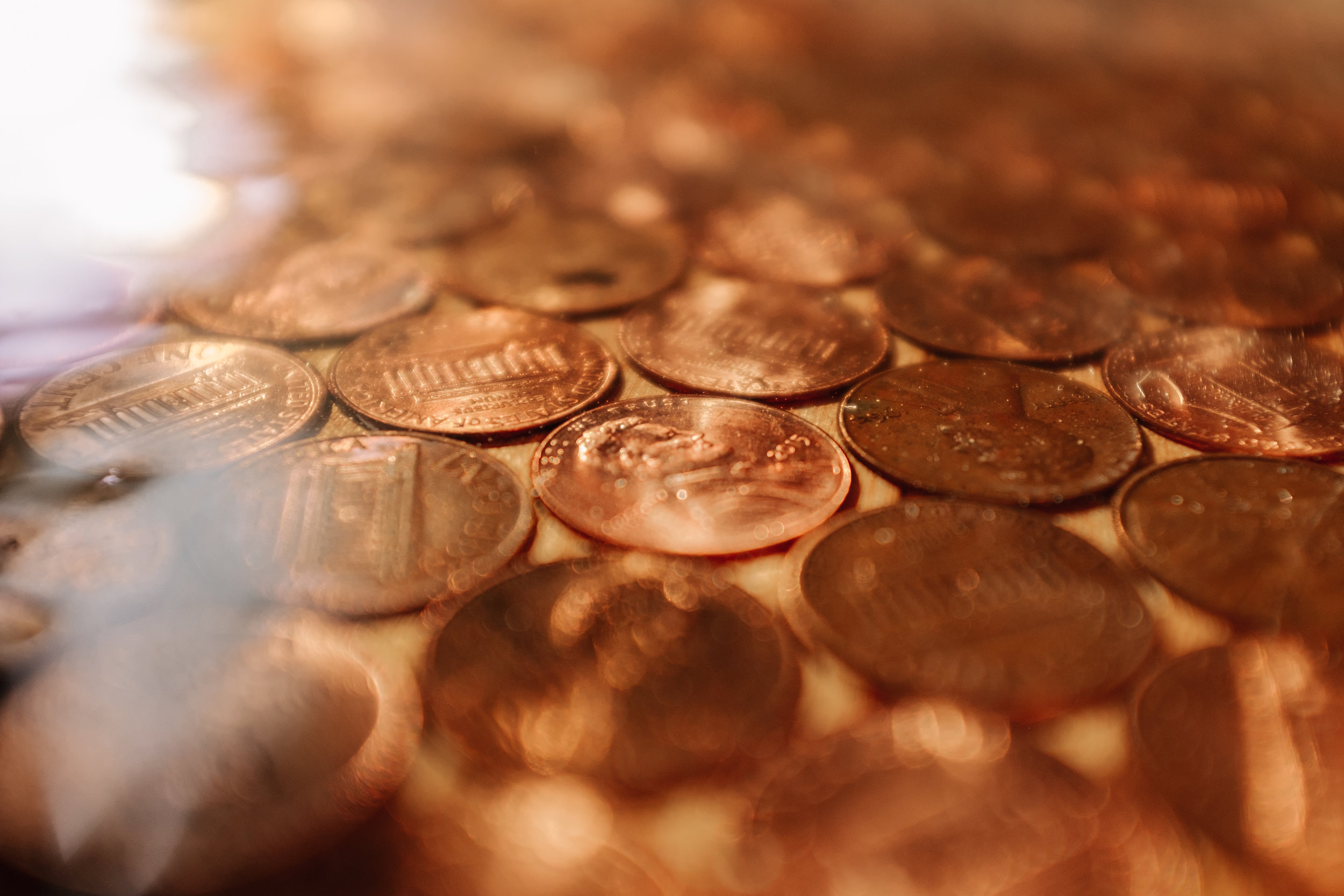 The Big Whimsy by Wind River Tiny Homes - custom penny counter top, 30 thousand+ pennies