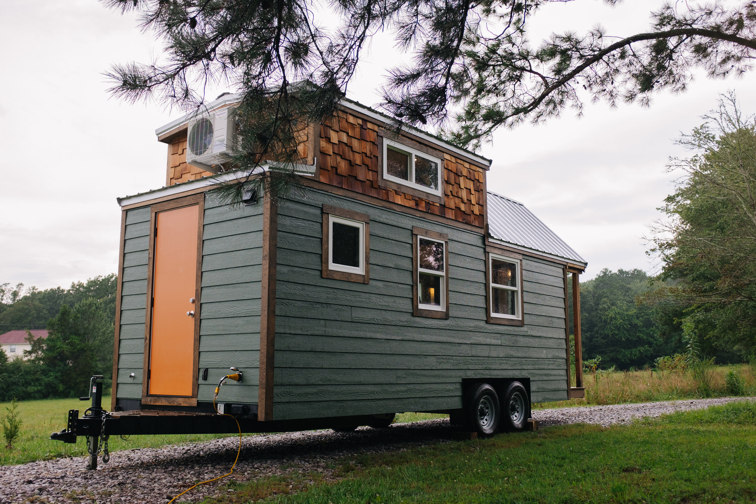 The Acadia by Wind River Tiny Homes - tiny house, craftsman home, cedar shake, rustic, storage closet