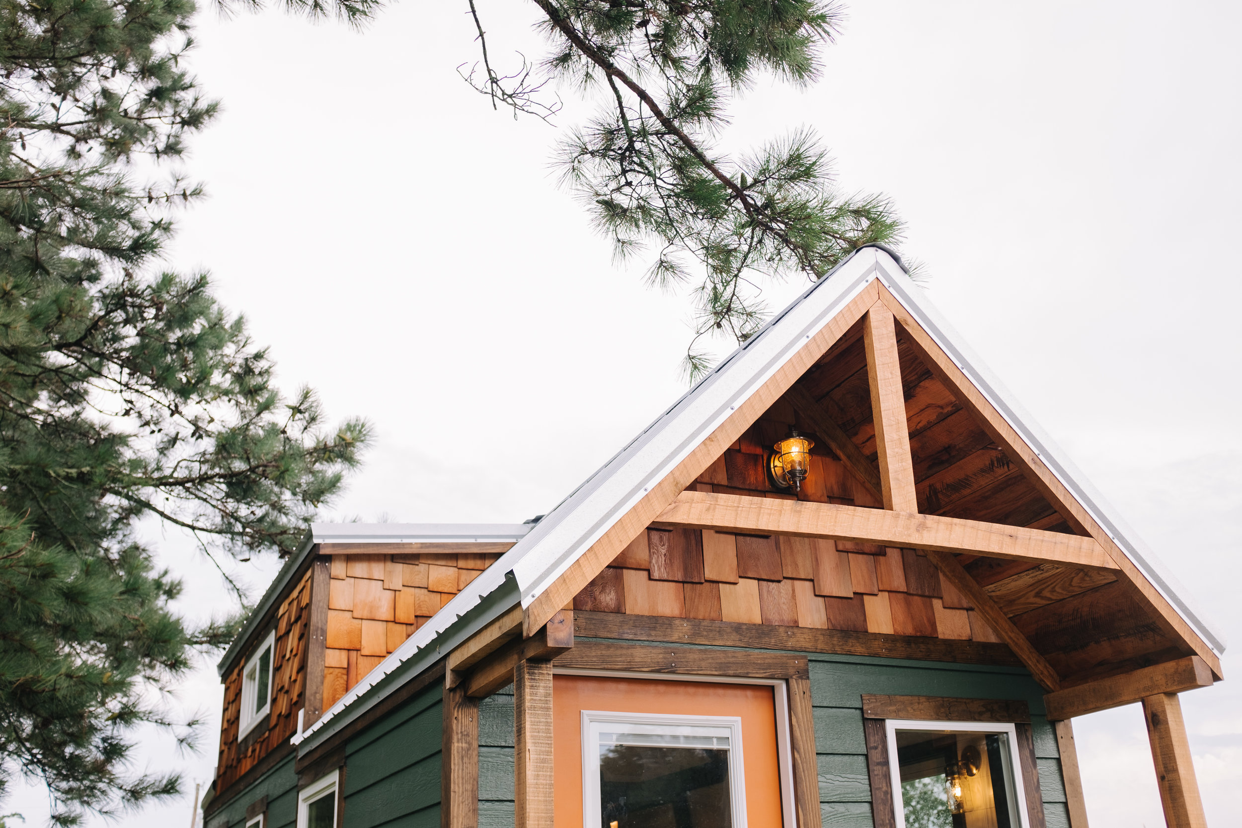 The Acadia by Wind River Tiny Homes - tiny house, craftsman home, cedar shake, rustic timber