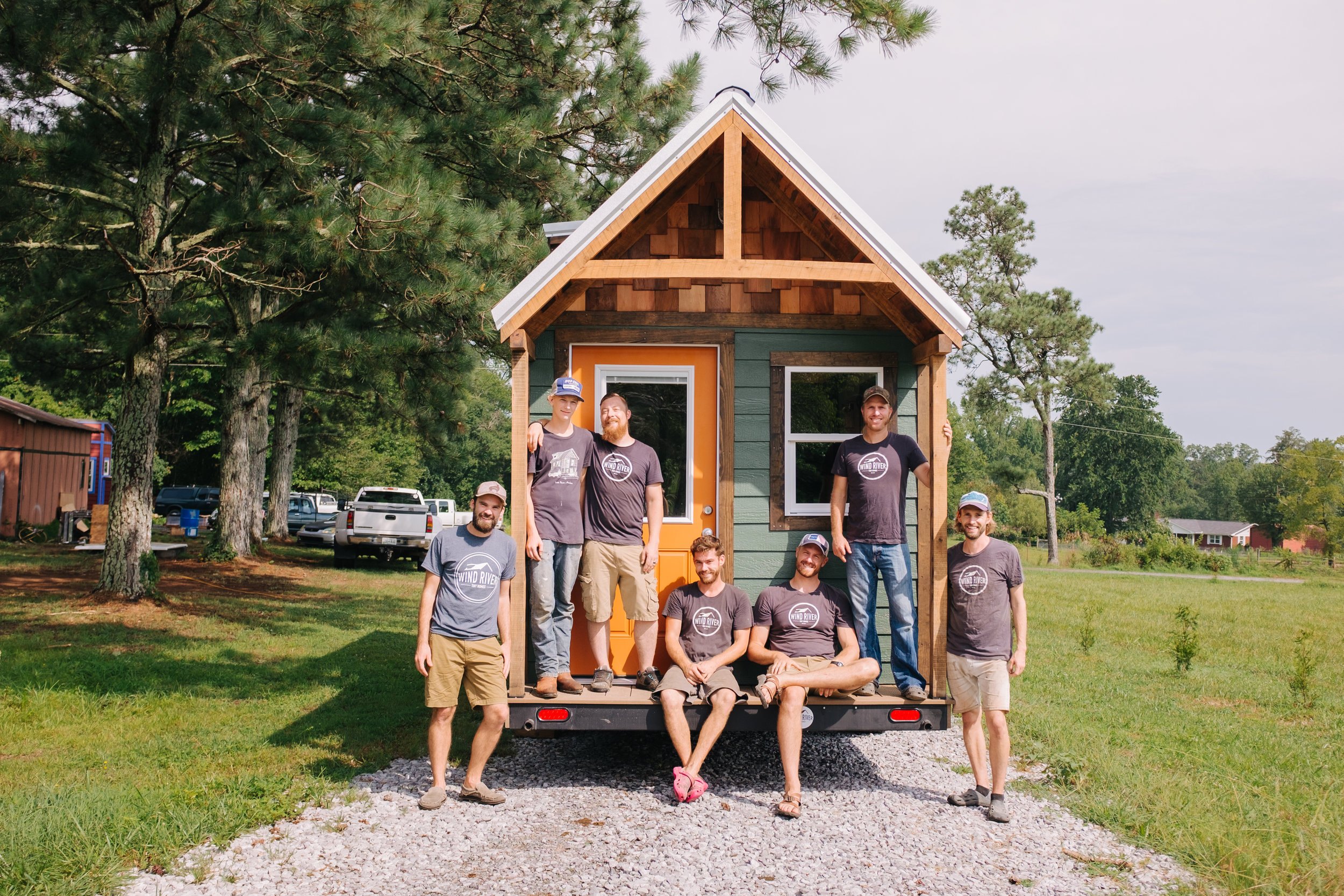 The Acadia by Wind River Tiny Homes - tiny house, craftsman home, cedar shake, rustic, timber porch, Wind River Crew