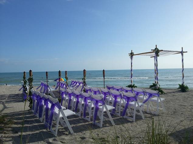 Chairs setup on Siesta Key Beach