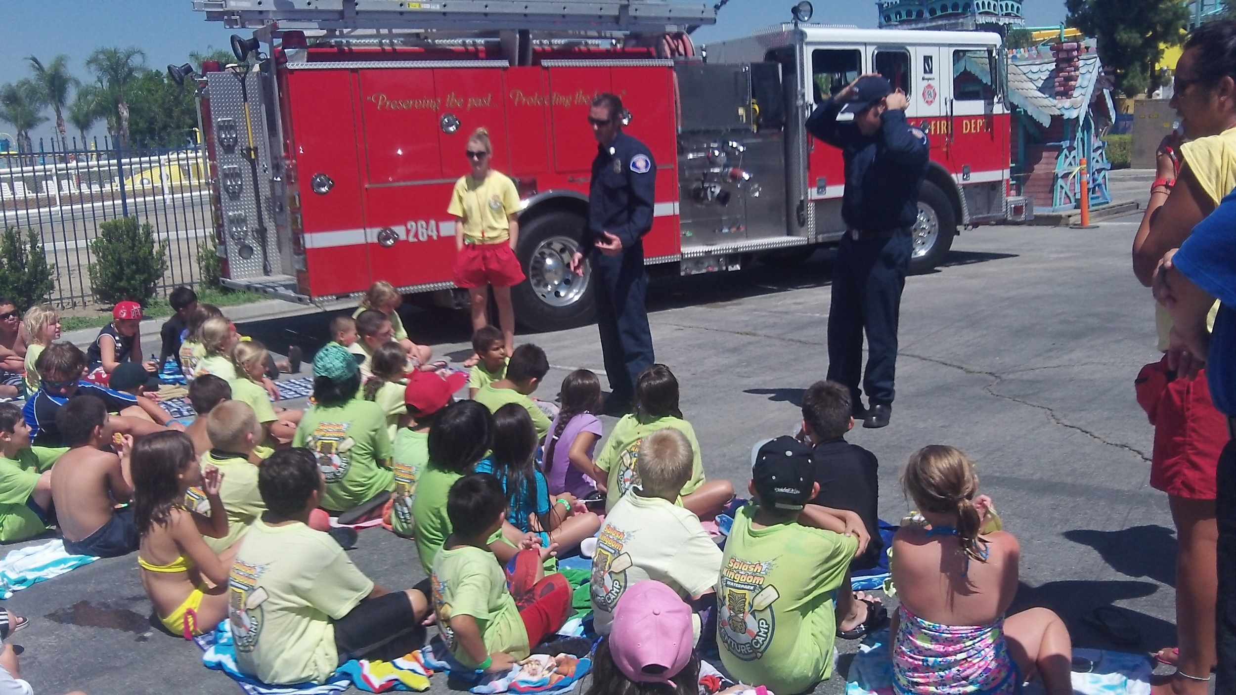 Our adventurers observing a Redlands Fire Department presentation. See, education  is  fun!