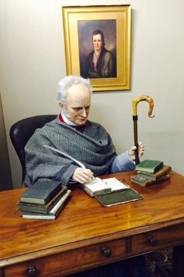 Exhibits inside James Hogg's study