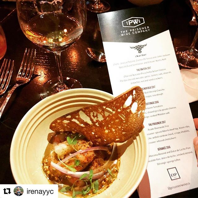 #Repost @irenayyc with @get_repost ・・・ Super interesting wines last night at our dinner @charbar_yyc for The Prisoner Wine Co, like the Blindfold 2017 paired here to charbar's red shrimp ceviche.  @prisonerwineco @idmg_culinary #winepairing #winedinner #yycevents #yycfoodie #foodandwine #yyceats #calgaryfoodie #calgaryfoodies #calgarywinelovers #yycwinelovers