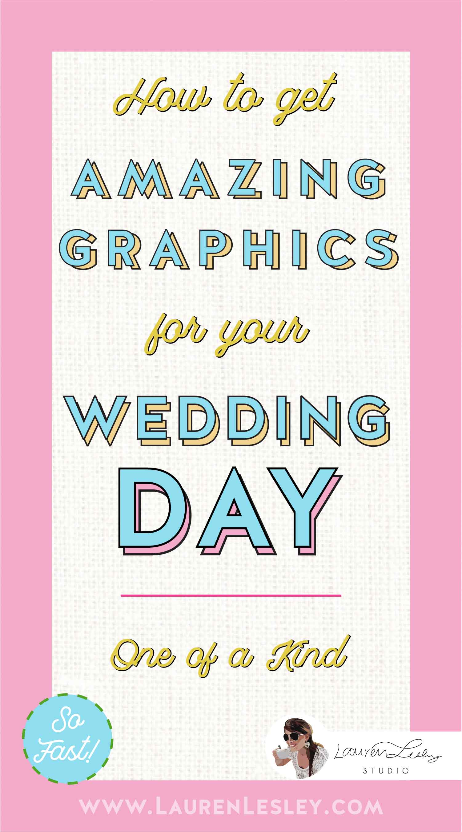Wedding Day Graphics Bride & Groom Portrait Bridesmaid