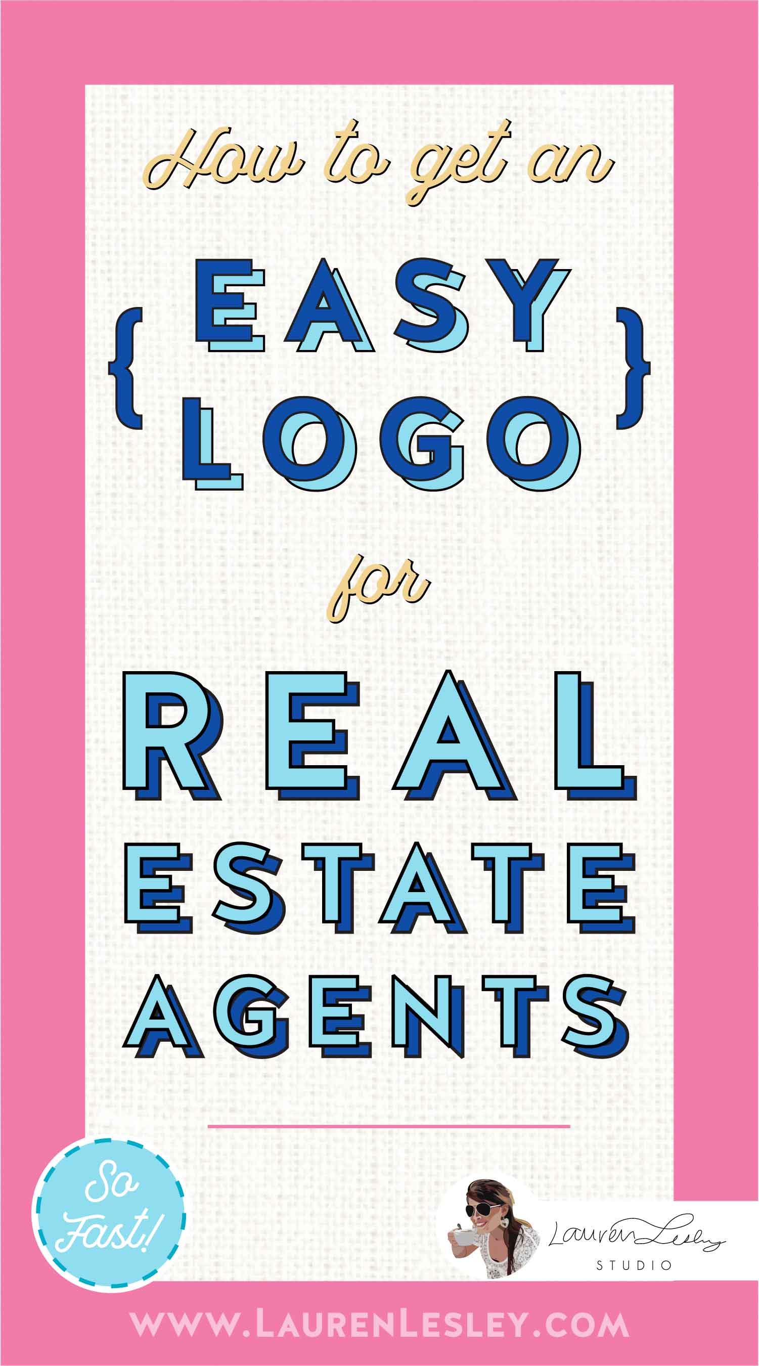 Real Estate Agents Custom Logo Marketing