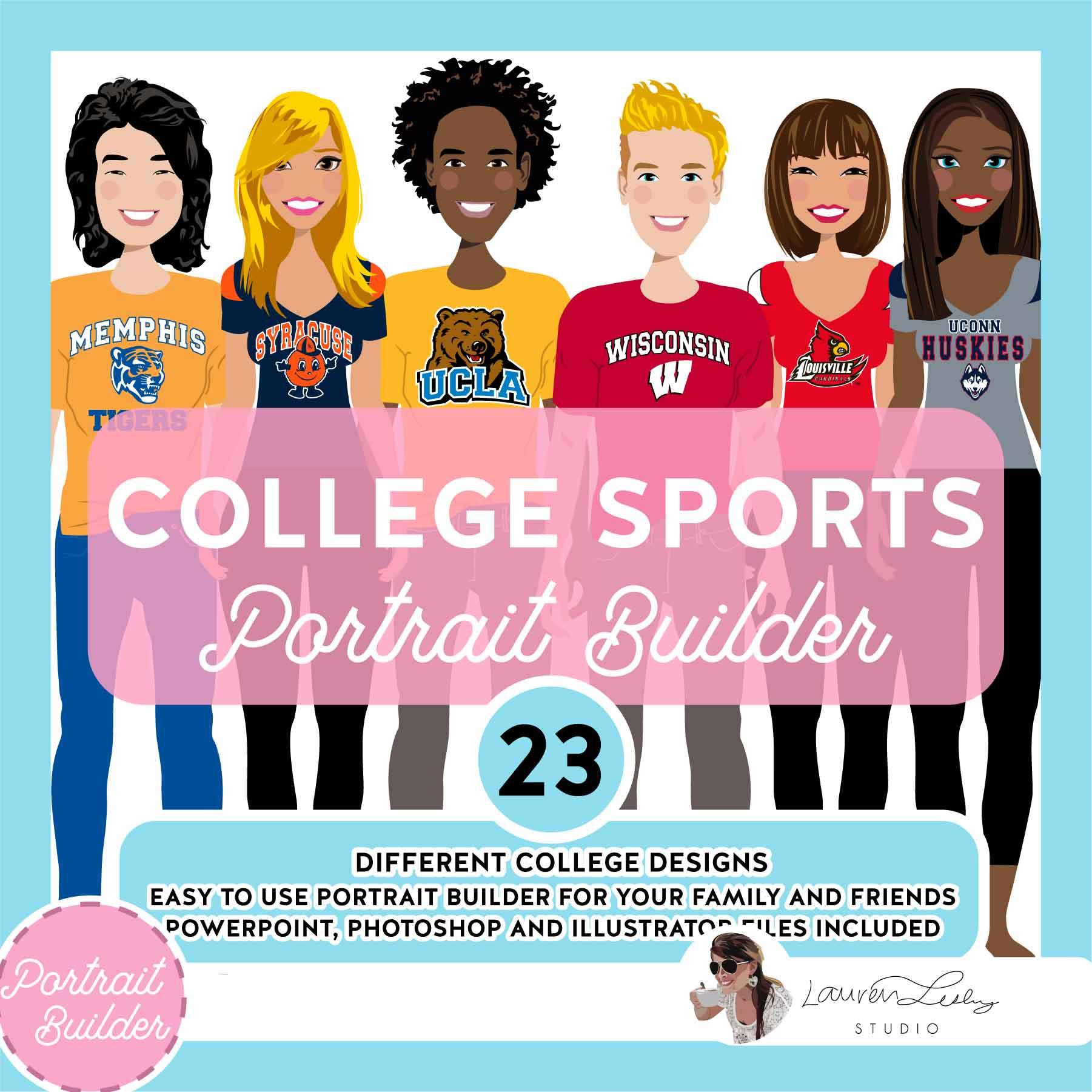 College Sports Portrait Builder