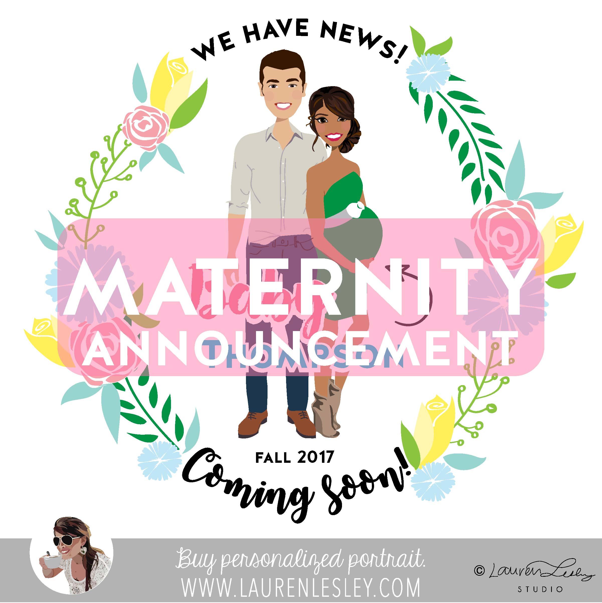 Maternity Announcement Portrait Builder