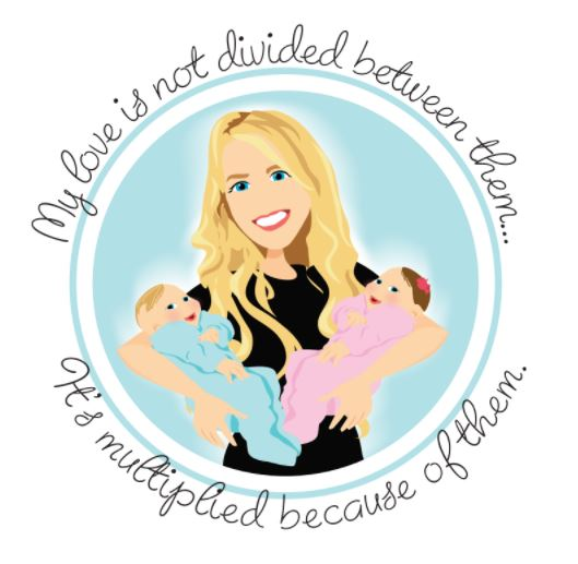 Final Design of Custom Portrait illustration - Here is the final design that Kim approved. It is a beautiful vector illustration of her and her Newborn Twins.This type of Design works wonderfully for Blog Logos.