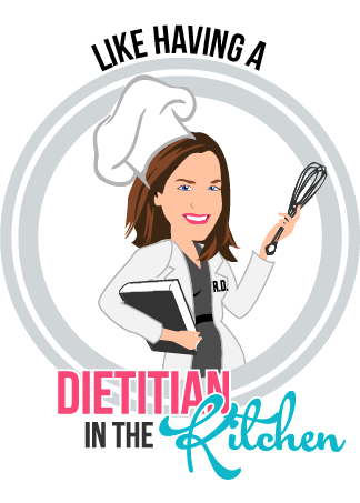 Final Design of Custom Portrait illustration - Here is the final design that Dana approved. It is a beautiful vector illustration of MealEnders' dietitian in action.This type of design works beautifully for chefs and nutritionists.