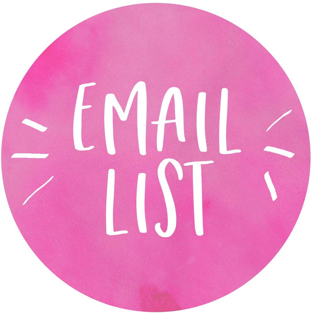 Join my Email List and I'll send you awesome discounts, occasional new product updates, and shop news!  Read our  privacy policy.
