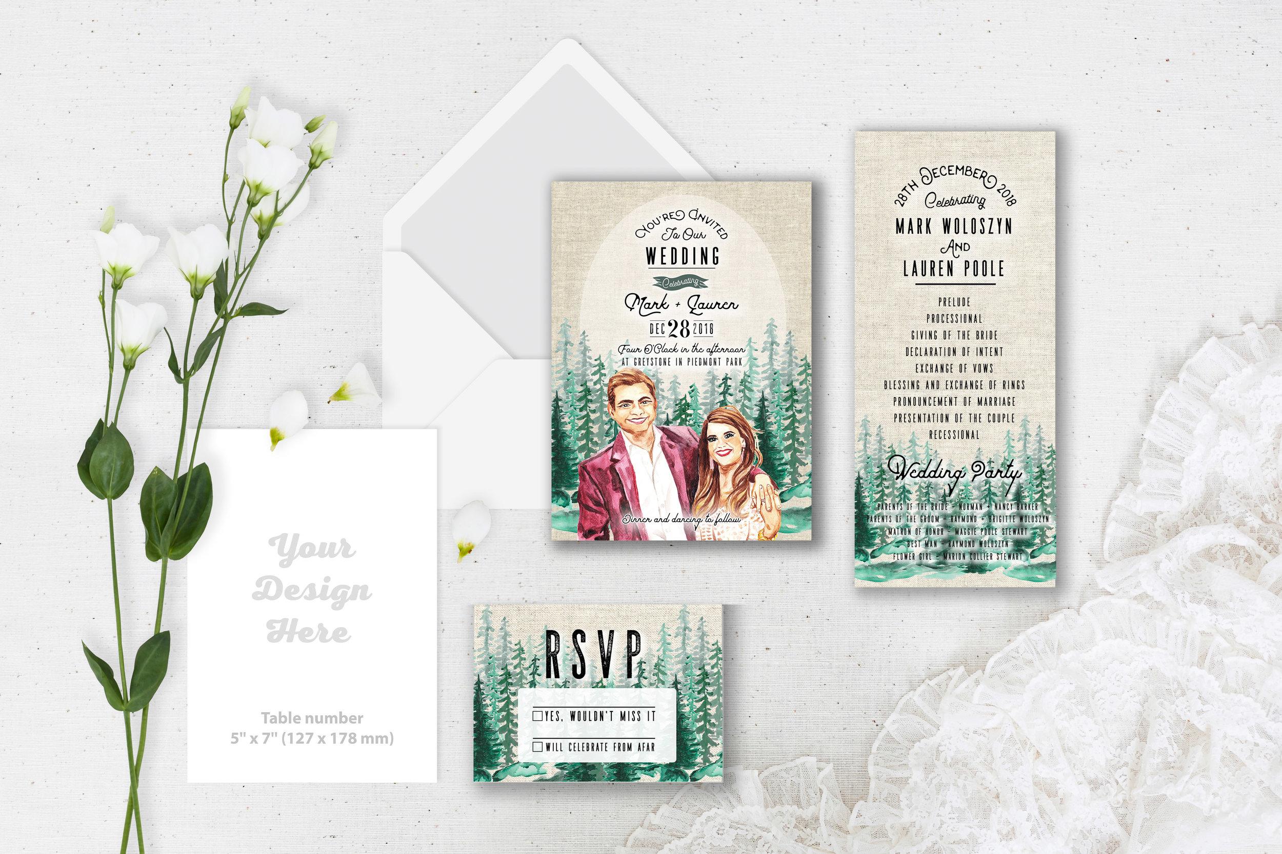 Wedding Invitation Suite - Custom