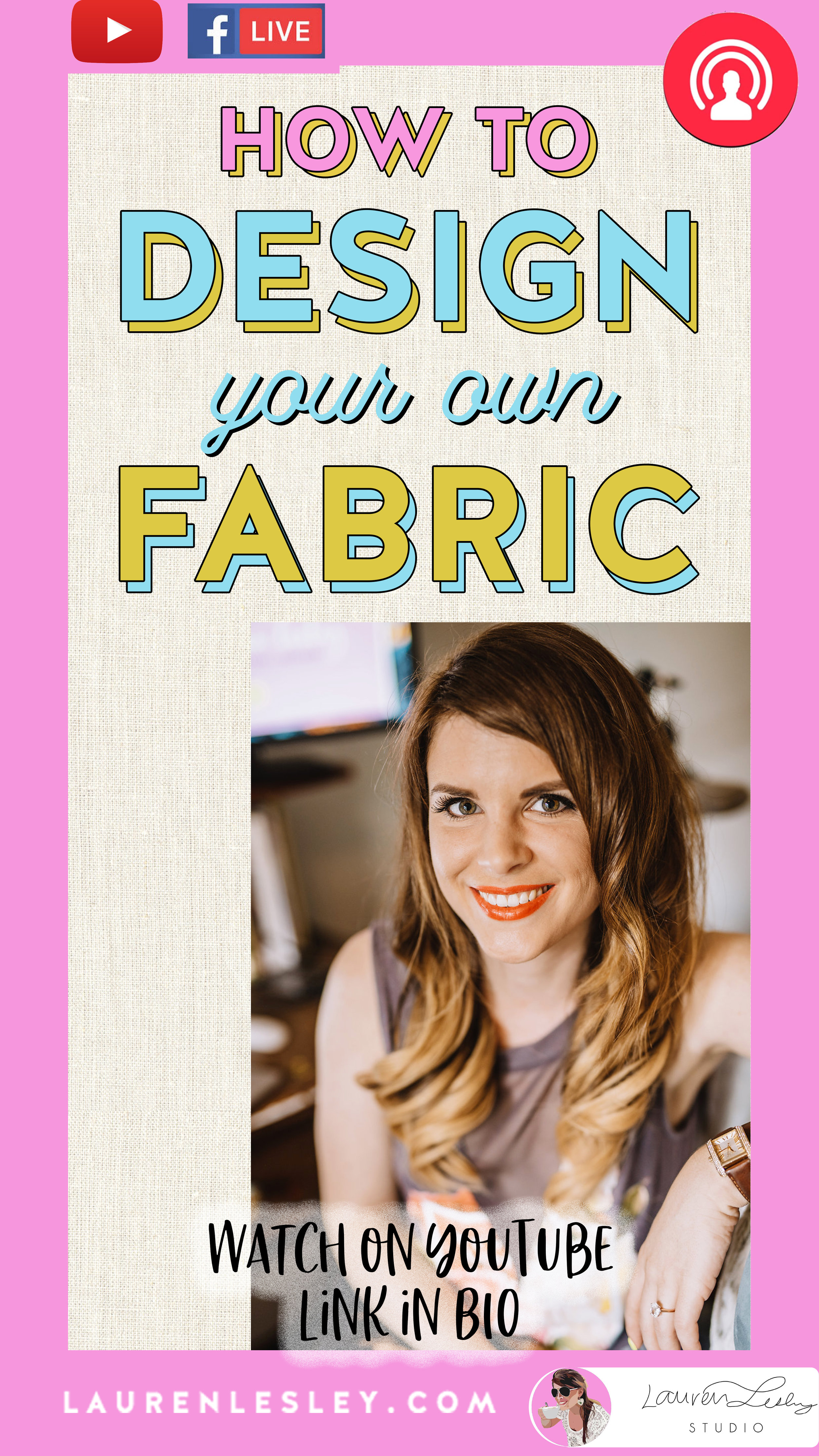 How To Design Your Own Fabric - Check out my step-by-step guide to my Fabric Design Tutorial.