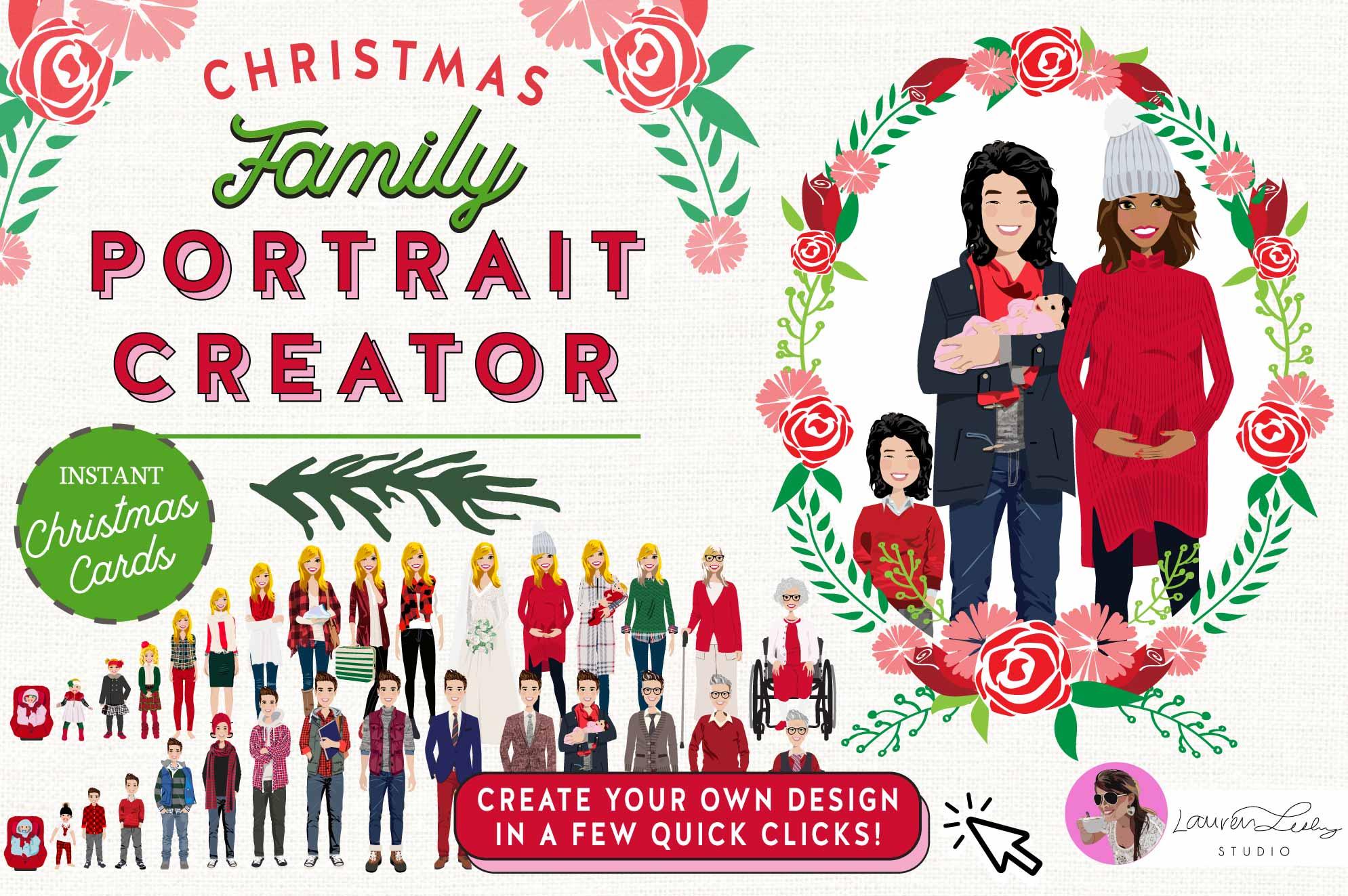 Christmas Card Family Portrait