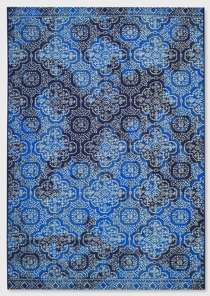 Medallion Outdoor Rug Indigo - Threshold™